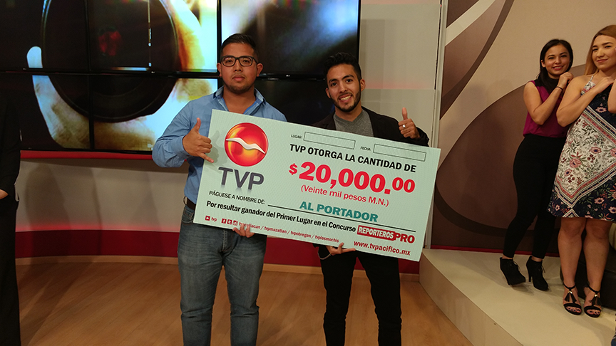 Alumnos ganan convocatoria de Televisora local