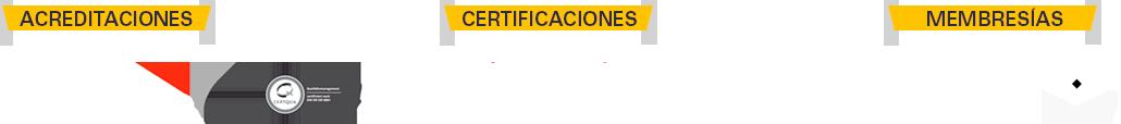 acreditaciones, certificaciones y membresías