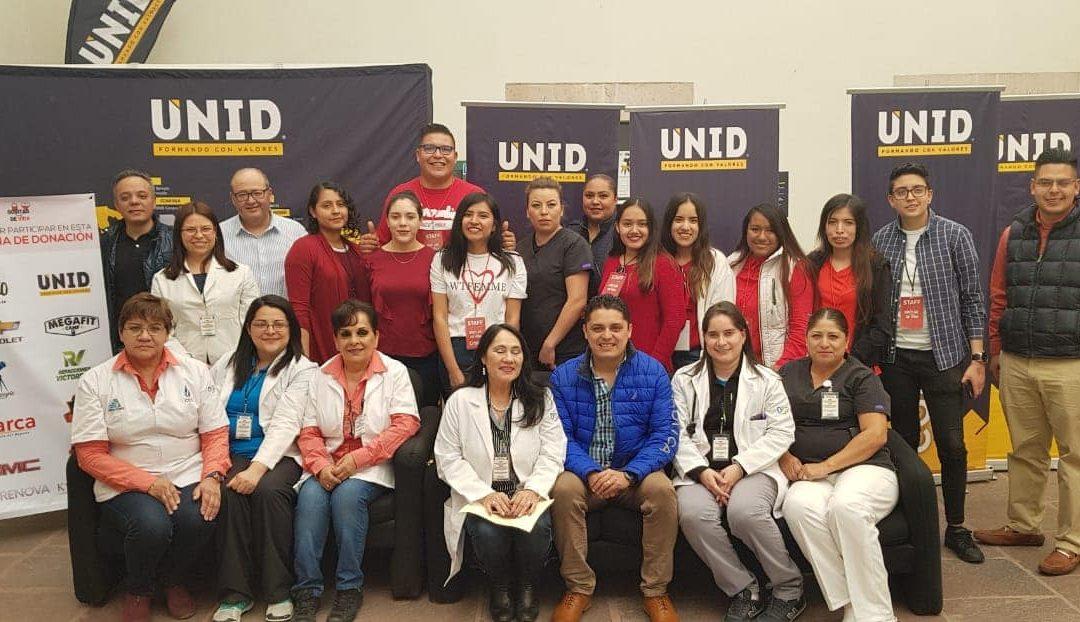 Donan Sangre Alumnos de UNID Campus Durango