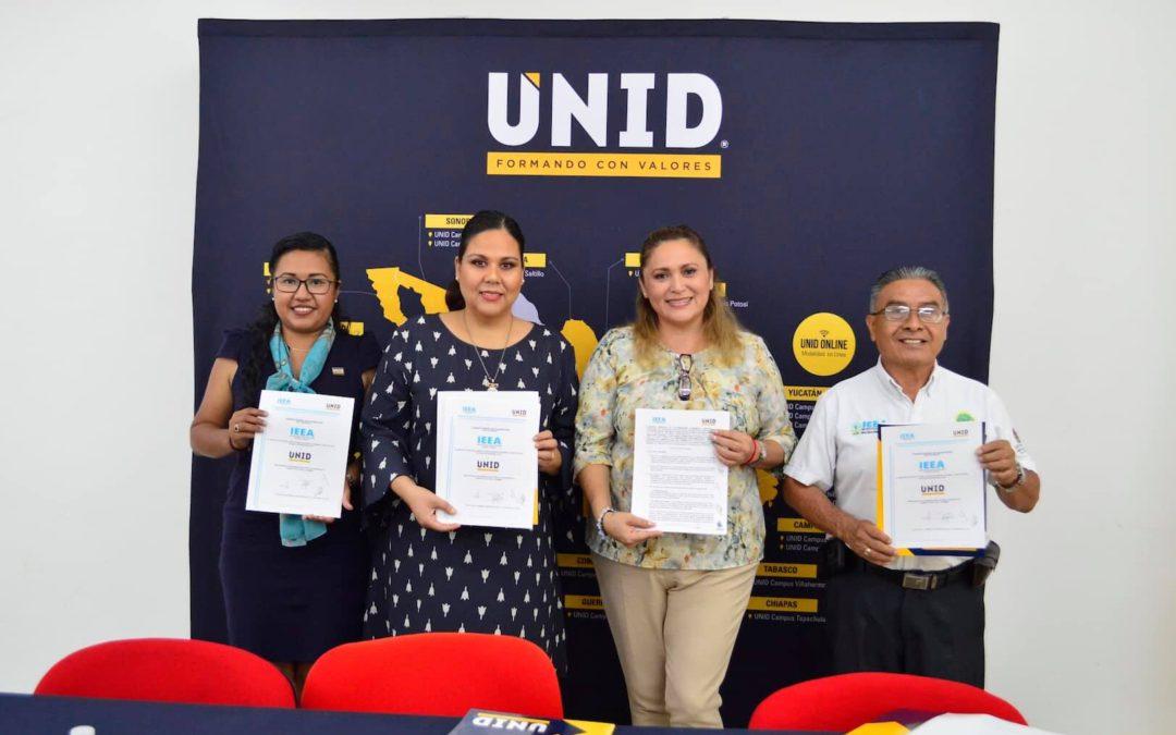 Firma la IEEA convenio con UNID